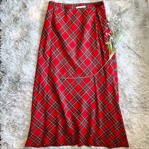 Pendleton Long Tartan Plaid Skirt Wool Red Green